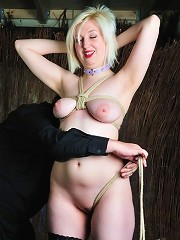 Blond Slave Getting Tied Up
