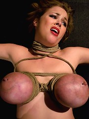 Katie Kox Gets Her Big Tits Bound, Clamped, And Shocked