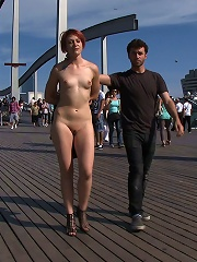 European Cutie Made To Jack Off A Stranger And Walk Through The Streets With His Cum On Her Face