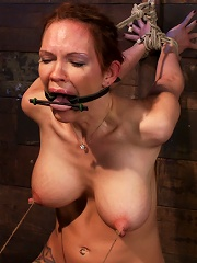 Extreme Nipple Torment, Brutal Gag, A Skull Fucking, While The Sybian Makes Her Cum Her Brains Out!